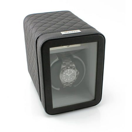 Monaco Single Watch Winder - Dual Powered - Black Leather ()