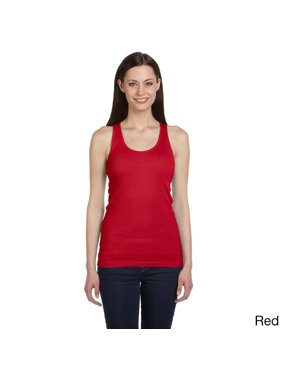 e732eb180 Free shipping. Product Image Bella Women s Ribbed Racerback Longer-length  Tank