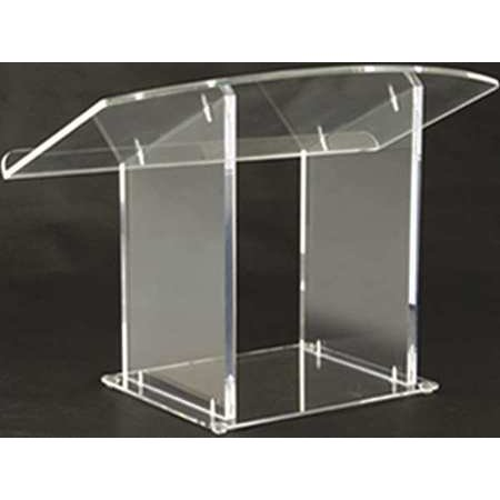 AMPLIVOX SOUND SYSTEMS SN3085 Lectern, Clear Acrylic, 27x19x17-1/2 In