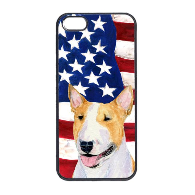 Carolines Treasures SS4023IP5 USA American Flag With Bull Terrier Iphone 5 Cover - image 1 de 1
