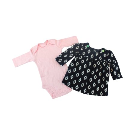 Carter's Just One You 2 Pieces Pink Black Long Sleeve 3M Bodysuit and