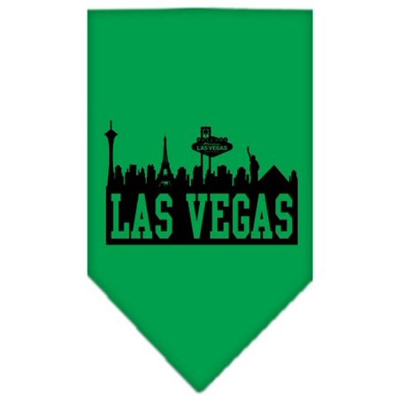 Las Vegas Skyline Screen Print Bandana Emerald Green - Gold Spike Las Vegas Halloween