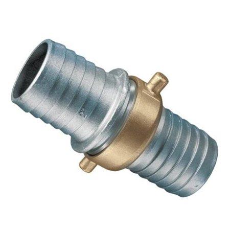 Kuriyama Of America AB150 1.5 in. Aluminum Insert Coupling with Brass Swivel Nut