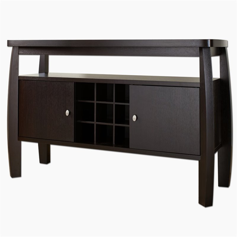 Furniture of America Mendota Buffet Table in Espresso by Furniture of America