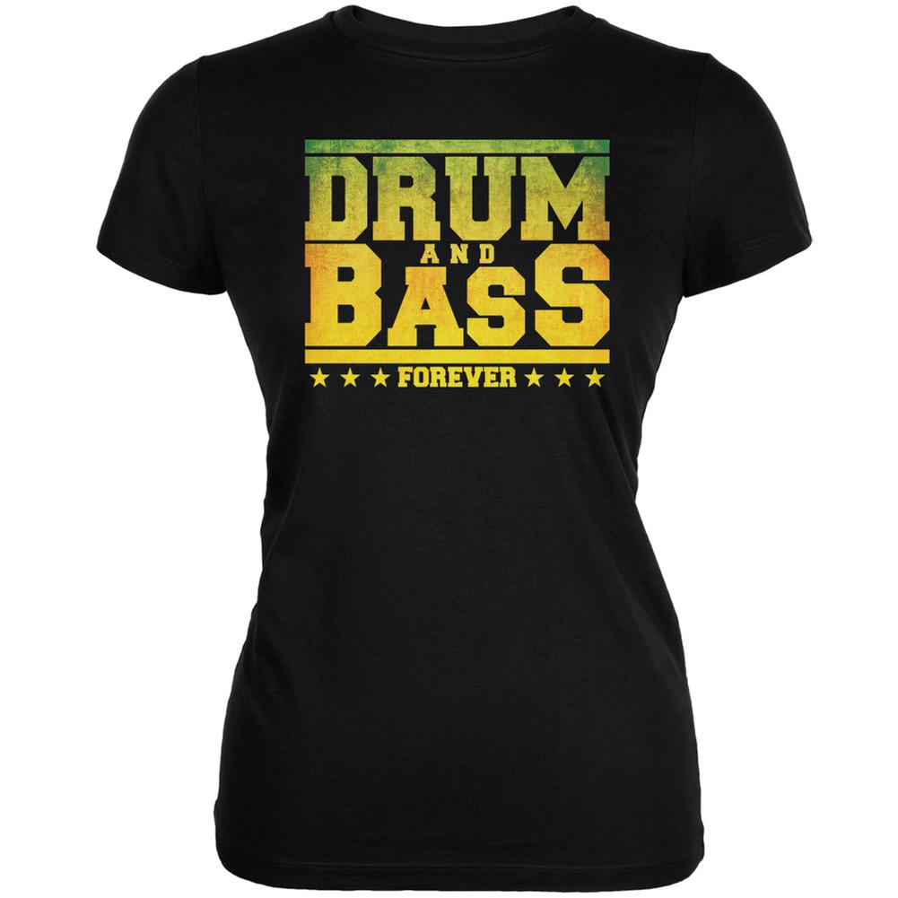 Drum And Bass Forever Black Juniors Soft T-Shirt