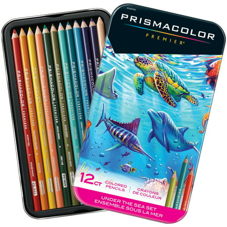 Prismacolor Premier Colored Pencils, Soft Core, Under the Sea Set, 12