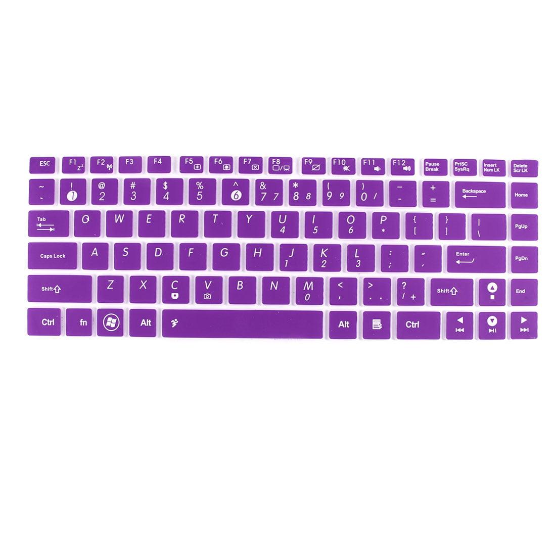 Unique Bargains Notebook Keyboard Skin Cover Film Purple Clear for Asus U80 UL80 U81 N82 UL30