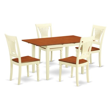 East West Furniture Norfolk 5 Piece Empire Dining Table Set