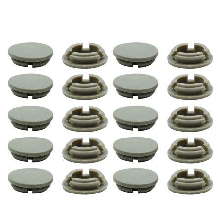 20pcs Gray Plastic Universal Car Decoration Screws Bolts Nuts Cap Covers 10mm - image 3 de 3