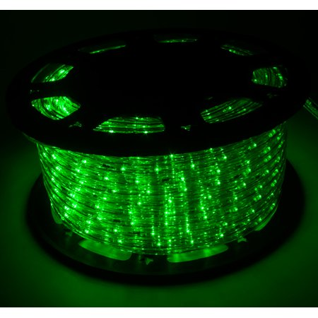 150 Green Led Rope Light 2wire Outdoor Home Decoration Party Xmas Lighting 110v
