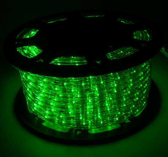 150' Green LED Rope Light 2Wire Outdoor Home Decoration Party Xmas Lighting 110V - Green