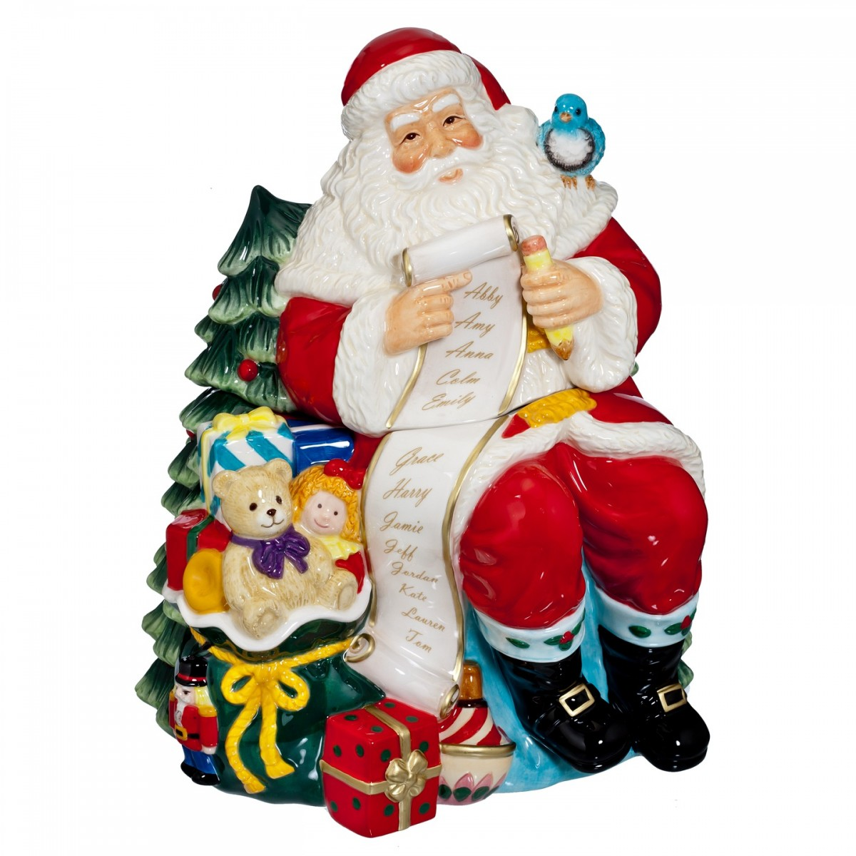 Waterford - 2015 Holiday Heirlooms - Cookie Jar - Santa with List