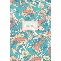 Japanese Notebooks: Journal: Japanese Koi Fish Design Notebook 120-Page (Paperback)