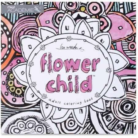 Mead MEA54008 Flower Child Adult Coloring Book Coloring Printed Book - image 1 of 1