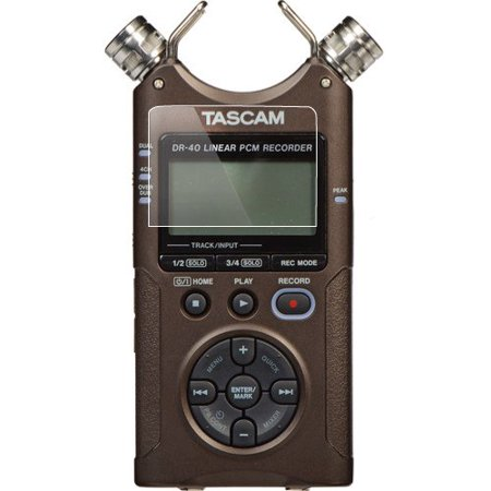 Foto&Tech 3 Pieces Crystal Clear HD LCD Screen Protector for Tascam DR-40 4-Track Handheld Digital Audio Recorder Bubble Free Multi-Layer Anti-Smudge Coating / Easy to