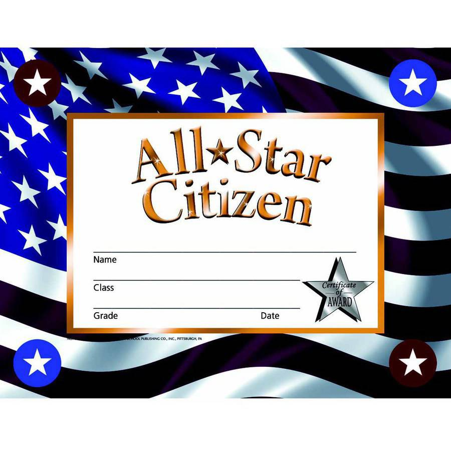 """Hayes Citizen Stick-to-It Award Certificate, 8.5"""" x 11"""" by Flipside Products Inc"""