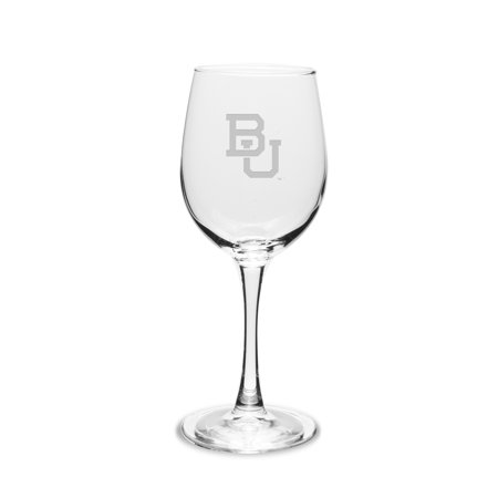 Boston University 12 oz. Deep Etched White WINE GLASS ()
