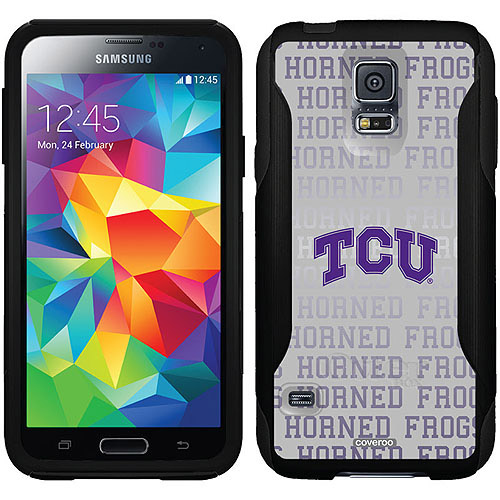 TCU Repeating Gray Design on OtterBox Commuter Series Case for Samsung Galaxy S5