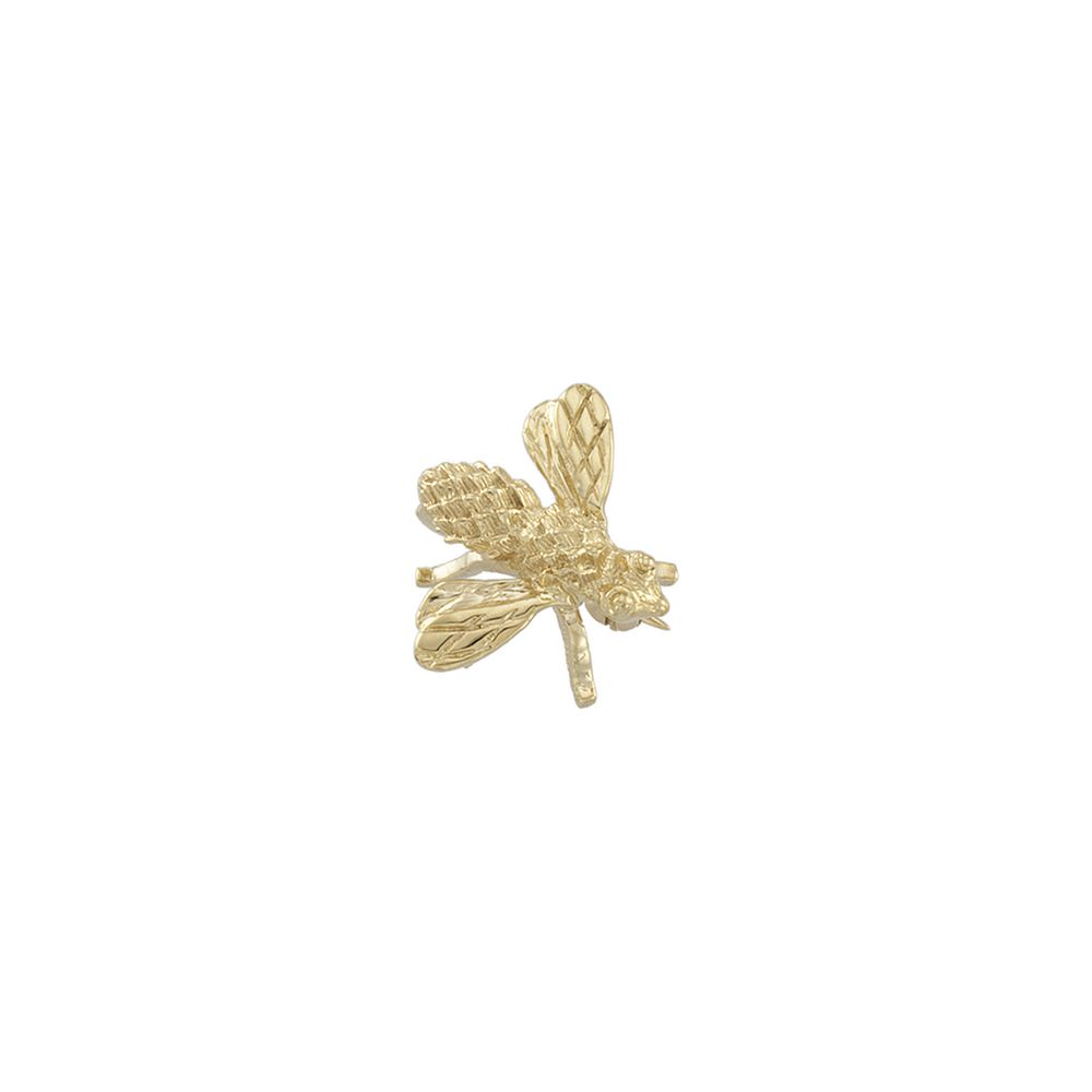 14k Yellow Gold 18x16mm Polished Bee Brooch Pin 3.2 Grams by