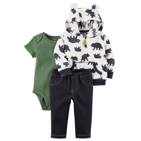 99f80f107 Carter s Baby Boys  3 Piece Handsome Divsion Little Varsity Jacket ...