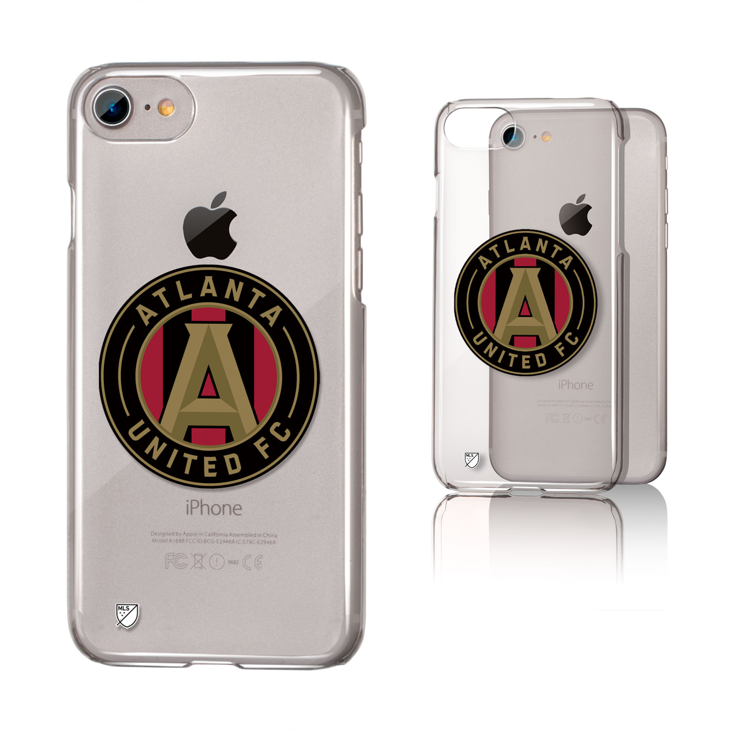 Atlanta United FC ATLUTD Insignia Clear Case for iPhone 8 / 7 / 6