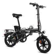 """XPRIT 14"""" Folding Electric Bicycle 250W City Coommuter, Aluminum Frame, LCD Display, 15mph Full Throttle/Pedal Assist up to 28 Miles per charge."""