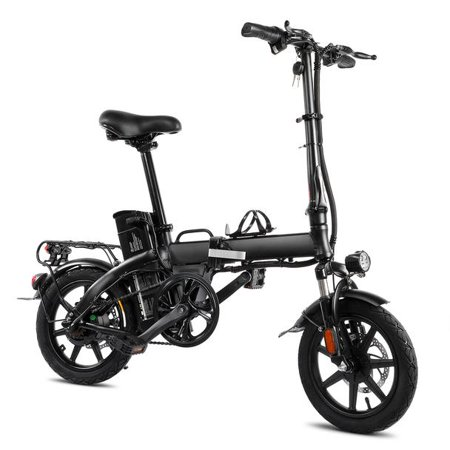 """XPRIT 14"""" Folding Electric Bicycle 250W City Coommuter, Aluminum Frame, LCD Display, 15mph Full Throttle/Pedal Assist up to 28 Miles per charge. - image 1 of 4"""
