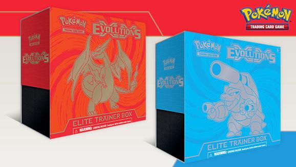 Pokemon XY Evolutions Elite Trainer Box Set Factory Sealed Charizard /& Blastoise