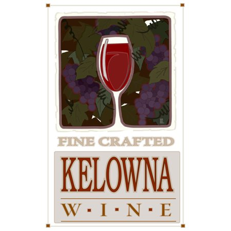 Kelowna Canada Fine Crafted Wine Travel Art Print Poster by Mike Rangner (12