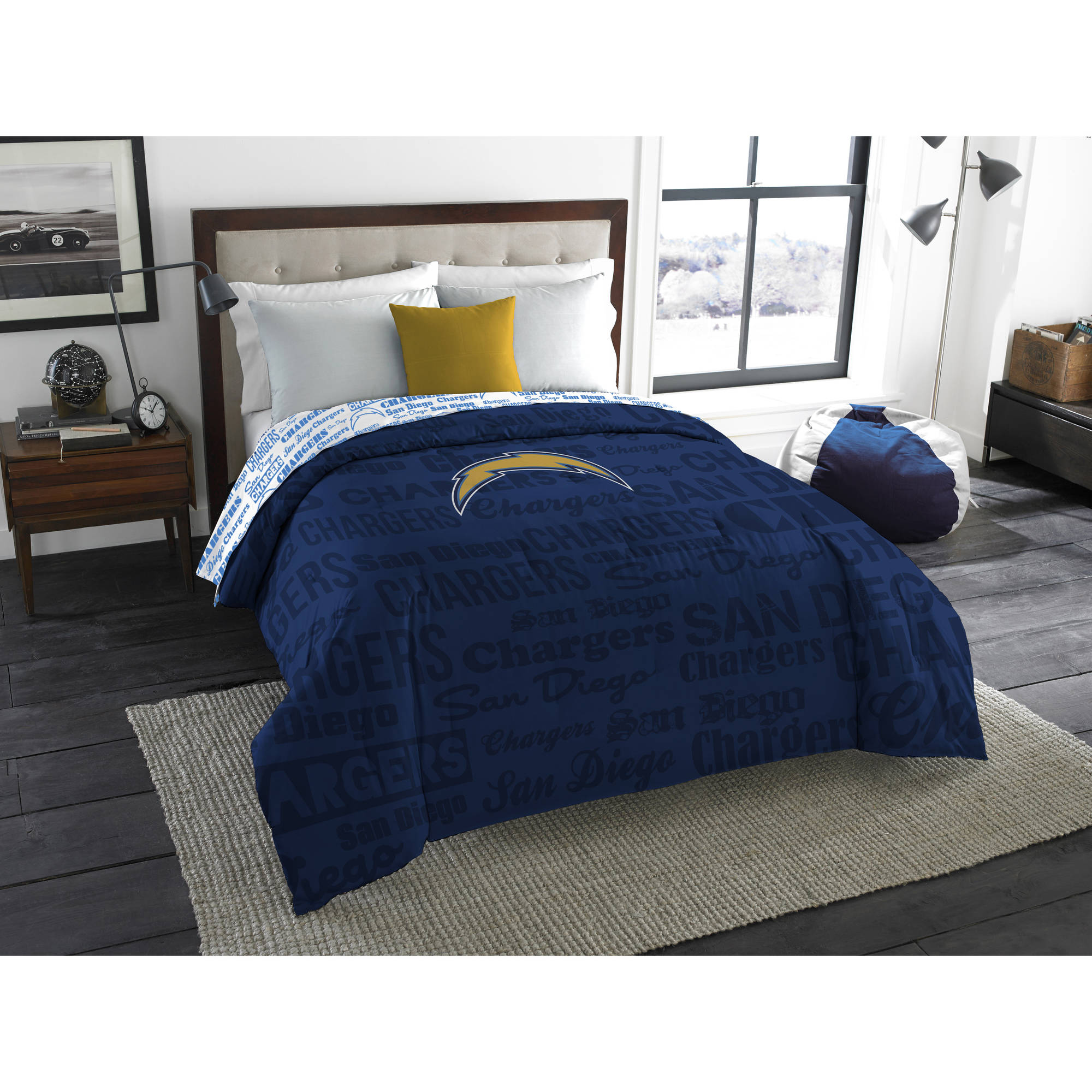 "NFL Los Angeles Chargers ""Anthem"" Twin/Full Bedding Comforter"