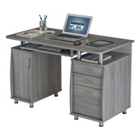 Product Image Techni Mobili Complete Workstation Computer Desk With Storage Drawers Grey