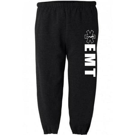 (EMT decal sweatpants for men work sweats clothing gear)
