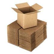 General Supply 242424 Brown Corrugated - Cubed Fixed Depth Boxes, 24l X 24w X 24h, 10/bundle