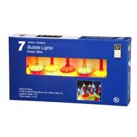 """Vickerman 7 Light Multi-color Bubble Set Green Wire 17"""" Bulb Spacing"""