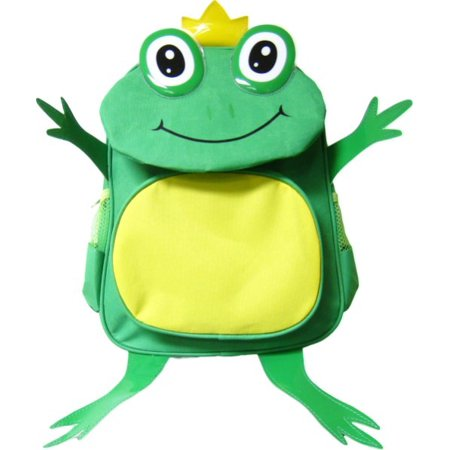 Kids Green Frog Prince Fun Animal Toddlers Backpack