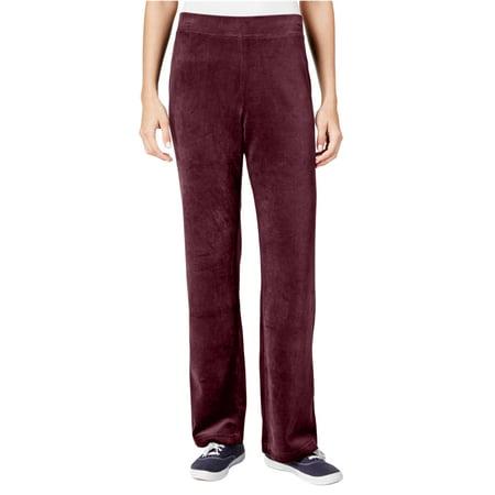 Full Length Velour Pant (Karen Scott Womens Velour Pull-On Casual Lounge Pants )
