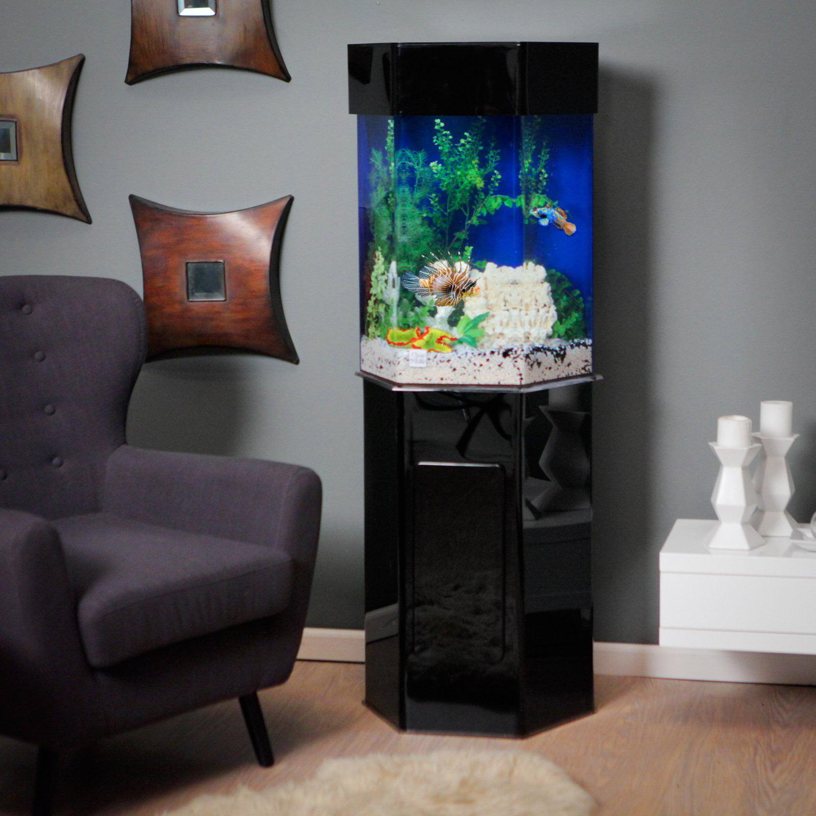 Acrylic Hexagon Aquarium Stand
