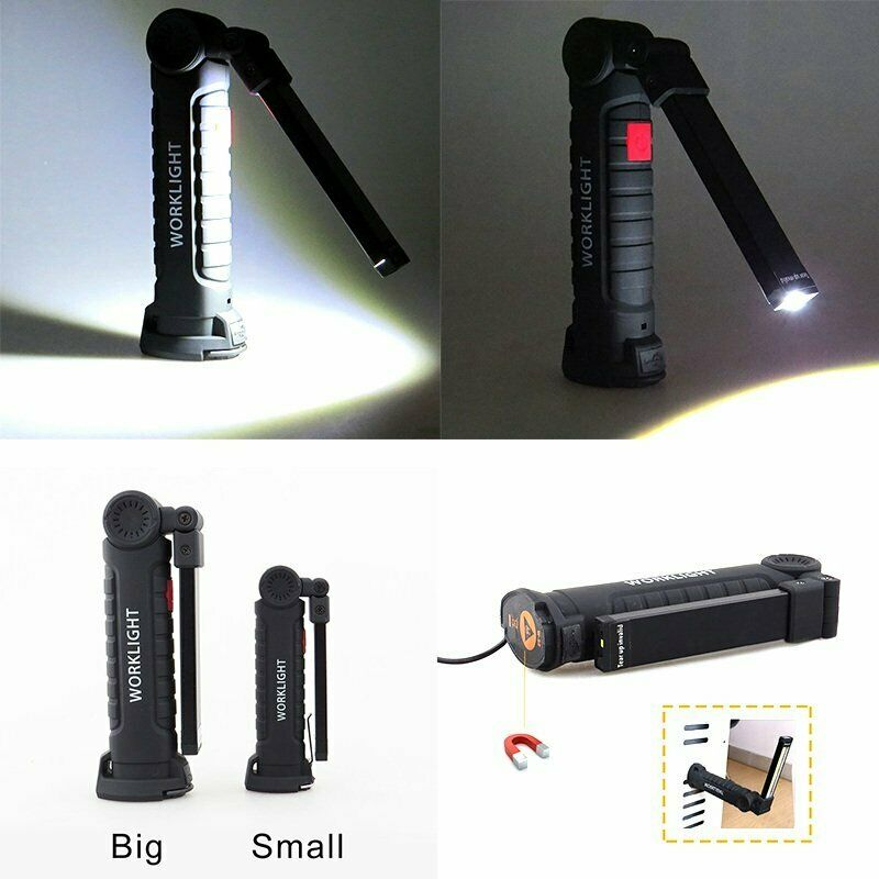 LED COB Working Light Magnetic Torch USB Rechargeable Car Truck Repair Lamp
