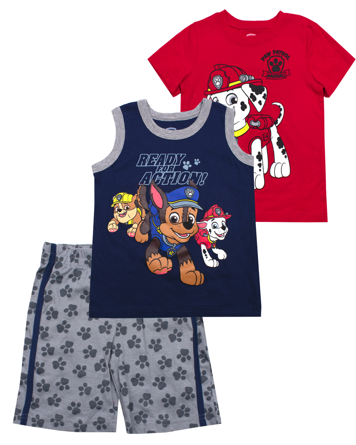 Muscle Tank, tee, and Shorts, 3-Piece Outfit Set (Little Boys)