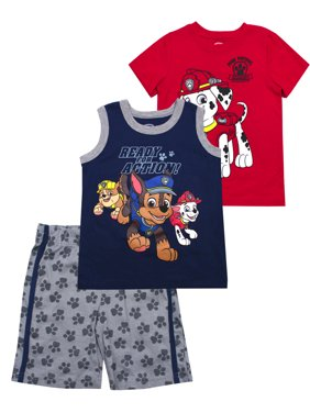 cc679aee1ae Product Image Paw Patrol Muscle Tank, tee, and Shorts, 3-Piece Outfit Set (