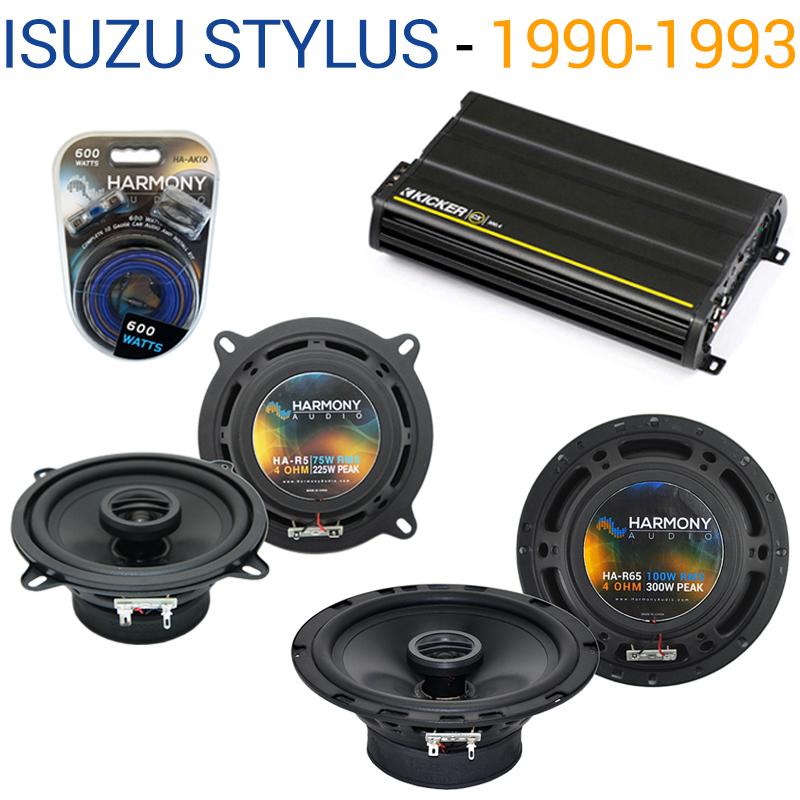 Isuzu Stylus 1990-1993 OEM Speaker Replacement Harmony R5 R65 & CX300.4 Amp - Factory Certified Refurbished