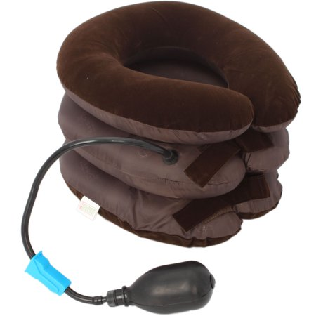 Zimtown Inflatable 3-Layered Vertebra Cervical Spine Tractor Neck Support Pillow Massage - image 2 de 7