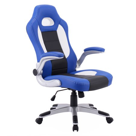 - Costway PU Leather Executive Racing Style Bucket Seat Chair Office Desk Chair
