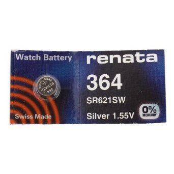Renata Silver Oxide Watch Battery For Renata 364 Button Cell ()
