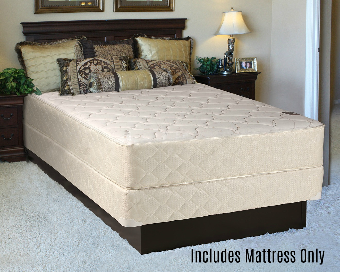 "Spring Solution, 10"" Fully Assembled Innerspring Back Support Long Lasting Mattress, Full XL Size by Comfort Bedding"