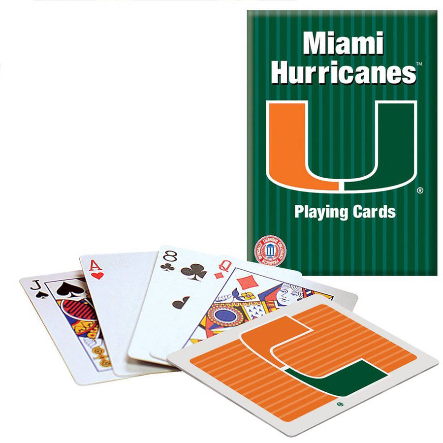 Officially Licensed NCAA Miami Playing Cards