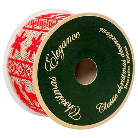 New 378604  Hx Ribbon Burlap Red Assorted 2X9ft (36-Pack) Christmas Cheap Wholesale Discount Bulk Seasonal Christmas Cell Phone Accessories](Discount Ribbon)