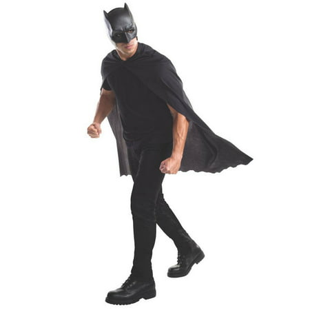 Batman Adult Cape w Mask - Batman Cape And Mask For Adults