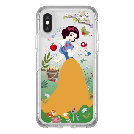 detailed look b5009 f9c60 Otterbox Symmetry Series Power of Princess Case for iPhone X, Forest of  Kindness (Snow White)