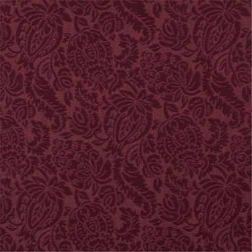 Designer Fabrics E554 54 inch Wide Burgundy, Floral Jacquard Woven Upholstery Grade Fabric